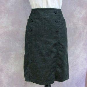 Dressbarn Black Woven Pencil Skirt Size 12